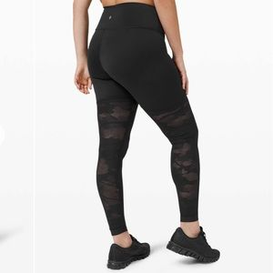 "Lululemon Sheer Will High-Rise Tight 28"" *Camo"